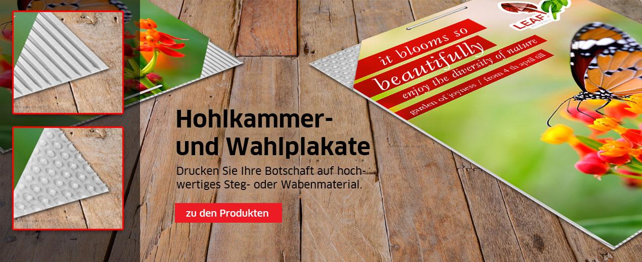 Hohlkammer- und Wahlplakate