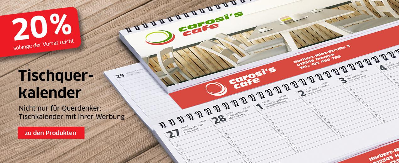 Schlussverkauf bei Tischquerkalendern!