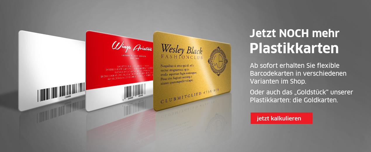 NEU: Gold- und Barcodekarten