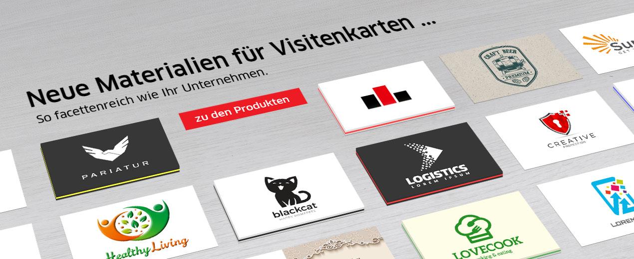 Neue Materialien für Visitenkarten