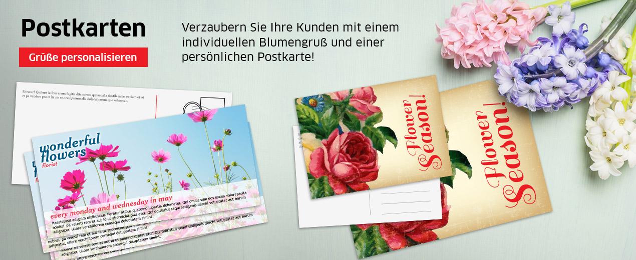 Mit Postkarten erreichen Sie Kunden weltweit.