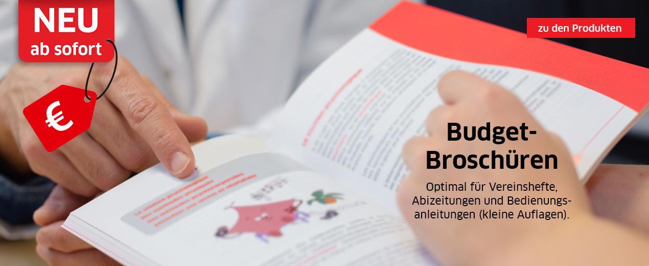 NEU: Budget-Broschüren für kleine Auflagen