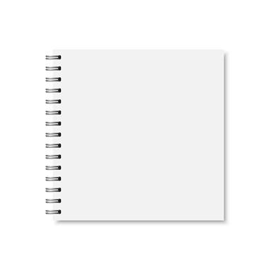 Quadratische Wire-O-Broschüren