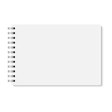 Wire-O-Broschüre im Querformat